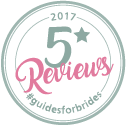 Guides for Brides, 100% 5* reviews in 2017