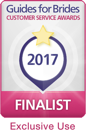 Guides for Brides Customer Service Awards 2017 Finalist Exclusive Use