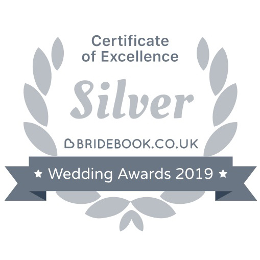 Silver Bridebook Wedding Awards 2019 Badge of Excellence